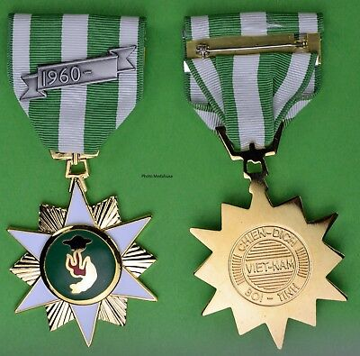 Republic of Vietnam Campaign Medal (RVN VCM) Regulation Full Size USA Made T1