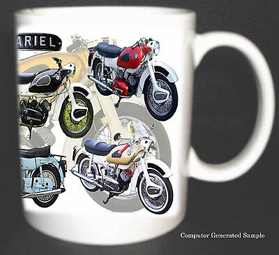 Ariel Arrow Classic Motorbike Mug Limited Edition New. With History On Reverse.
