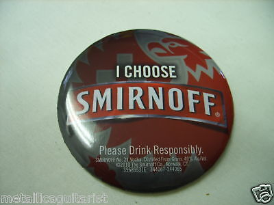 "Smirnoff Vodka - 3"" Metal Promo Pin - *new*"