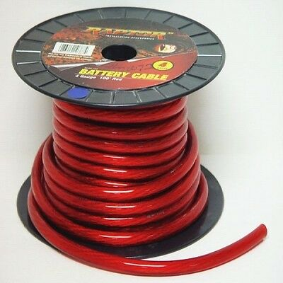 RAPTOR 4 GAUGE BOAT BATTERY CABLE (FOOT) marine cables