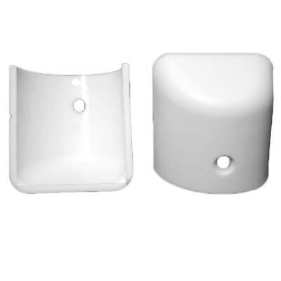 STANDARD WHITE BOAT RUB RAIL END CAPS (Set of 2)