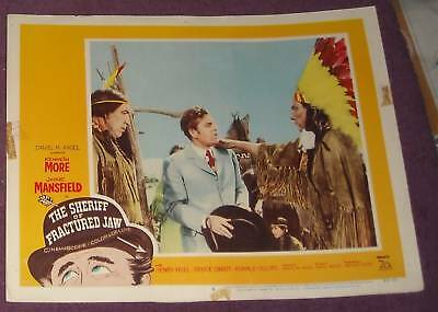 1959 The SHERIFF of FRACTURED JAW LOBBY CARD MANSFIELD