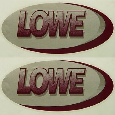 LOWE 19 INCH GRAY / MAROON BOAT DECALS (Pair) decal
