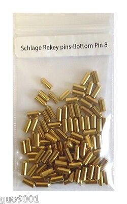 100 Pieces PC Schlage Rekey Bottom Pins #8 Locksmith Rekeying Pin Key Kits