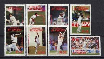 Gren St. Vincent 1988 SG#573-80 Cricketers MNH Set