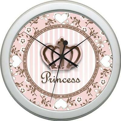 Personalized Princess Daniell Bedding Wall Clock Girl Nursery Decor