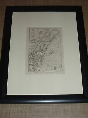 Dared 1897 Print Engraving Map of Whitehall & Westminster London x