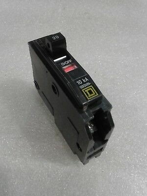 Lot of 10 SQUARE D QOB120 CIRCUIT BREAKER 20 AMP 1 POLE QOB bolt on Series