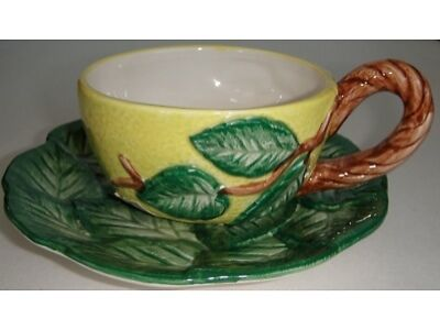Fitz & Floyd Figural Lemon Cup and Saucer
