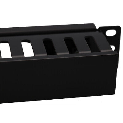 """Cable Management 19"""" Universal Panel 1U With Rear Vent"""