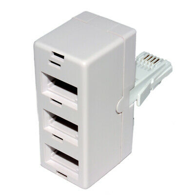 3 way BT Telephone Splitter Triple Socket Y Adapter