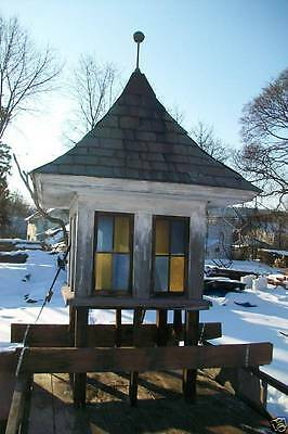 Antique Cupola Stain Glass Slate Roof Garden Vintage