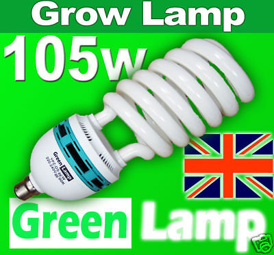 105w Red Hydroponic 2700k CFL grow light lamp bulb B22 BC
