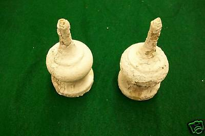 Pair Architectural Salvage Finial Gingerbread White old