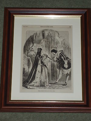 Print 135 yrs old Prince Eugene received by Queen Anne
