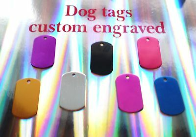 Dogtags with free engraving uk