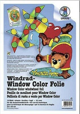 URSUS Windrad-Window Color FOLIE 10 Blatt 23x33cm 0,2mm