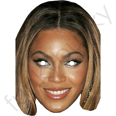 Beyonce Celebrity Card Mask - All Our Masks Are Pre-Cut!