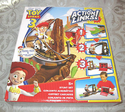 Toy Story 3 Action Links Stunt Set with Jessie FREE SHIPPING