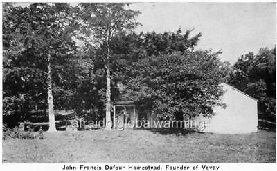 """Old Photo Vevay Indiana """"House of John Francis Dufour"""""""