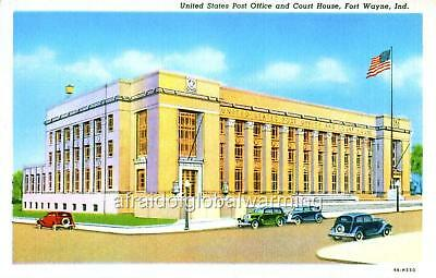 """Photo 1949 Ft Wayne IN """"Post Office & Court House"""""""
