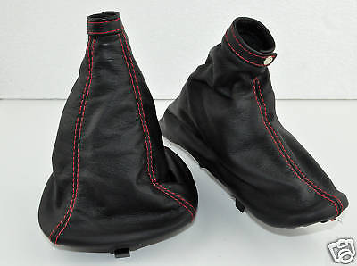 Alfa Romeo 147 Gt Gear Handbrake Gaiter Black Leather