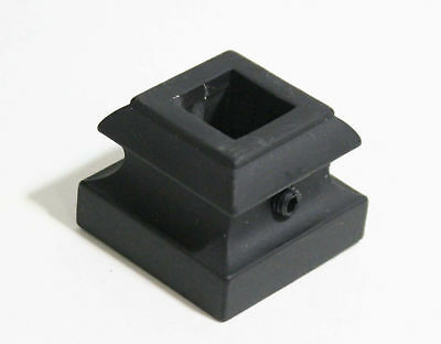 "Black Ornamental Fence Post thing for 1/2"" square post"