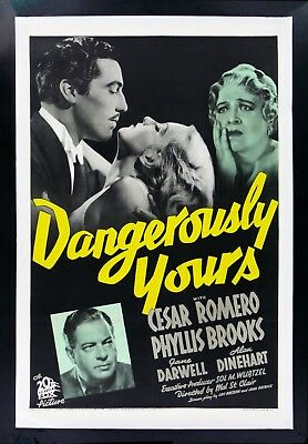 DANGEROUSLY YOURS * CineMasterpieces 1SH 1937 VINTAGE ORIGINAL MOVIE POSTER