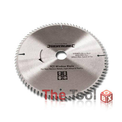 250mm TCT UPVC Window Blade 80T + Reducer Rings