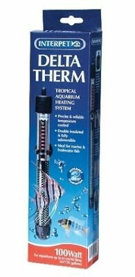 Interpet Delta Therm 100W Aquarium Heater Deltatherm Fish Tank Aquarium