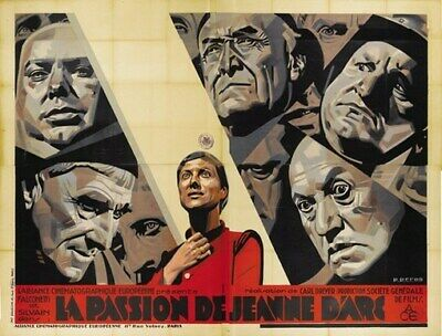THE PASSION OF JOAN OF ARC MOVIE POSTER 1928 Vintage 1