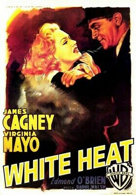 WHITE HEAT MOVIE POSTER James Cagney RARE HOT VINTAGE 4