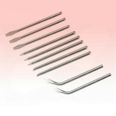 New 10 Set Of Soldering Iron Solder Tips Replacement