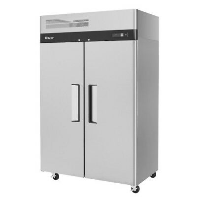 Turbo Air M3R47-2 Two-Section Solid 2 Door Reach-In Refrigerator 47 Cu. Ft.