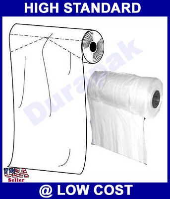 20X5X54 1 Roll 200 White 1.25 Mil Premium Garment Bag for Dry Cleaner, Household