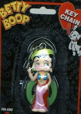 Betty Boop Hippie Mini Figurine Keychain Cute!