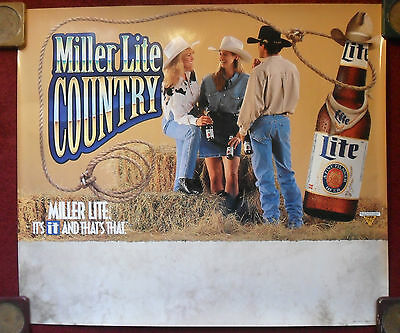 Sexy Girl Beer Poster Cowgirls Miller Lite ~ Country Cowboys & Cowgirls