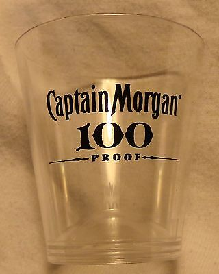 Captain Morgan Rum 100 Proof Plastic Shot Glass....NEW
