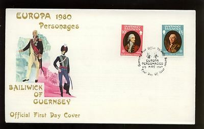 Guernsey 1980 Europa Personages FDC