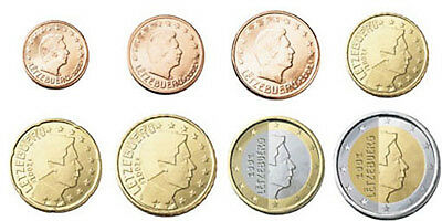 Serie complete 8 pieces UNC Luxembourg 2004
