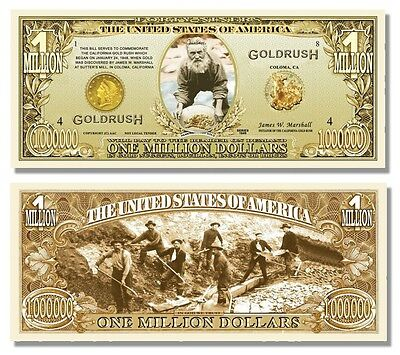 100 Factory Fresh 49er's Gold Rush Million Dollar Bills