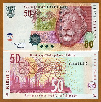 South Africa, 50 rand, ND (2005), P-130a, UNC   Lion