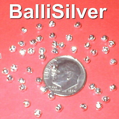 200 pieces 925 Sterling Silver 3mm HAMMERED Round Spacer BEADS Lot
