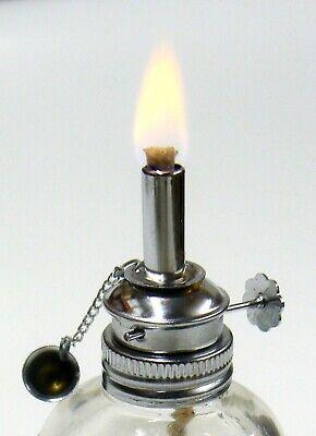 Alcohol Lamp Glass Spirit Lamp Burner Faceted Sides & Adjustable Wick Wax Work