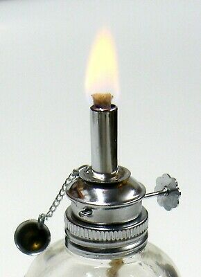 Alcohol Lamp Spirit Lamp Burner Adjustable 3/16 Wick 4oz Faceted Glass Wax Work