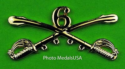 6th Cavalry Crossed Sabers Large Hat Pin