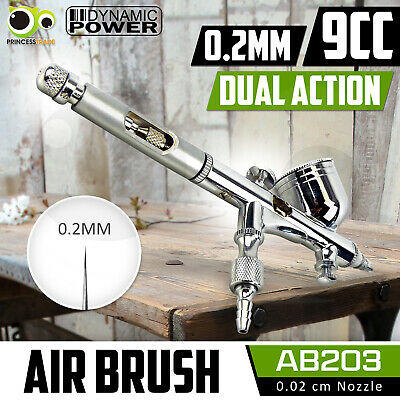 Dual Action Gravity Air Brush Micro Air Control Spray Gun Nail Cake Art Tattoo
