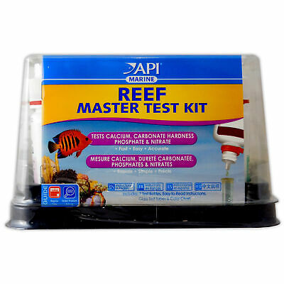 Api Reef Master Liquid Test Kit For Marine Coral Reef Aquarium Fish Tank