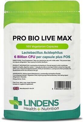 Probiotic Max (Acidophilus + FOS) with Prebiotic (100 pack) [Lindens 5941]