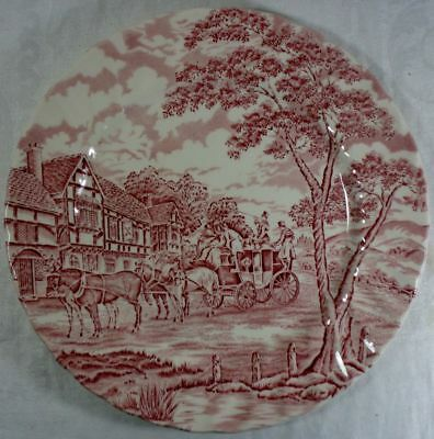 Alfred Meakin Coaching Days-Pink Dinner Plate